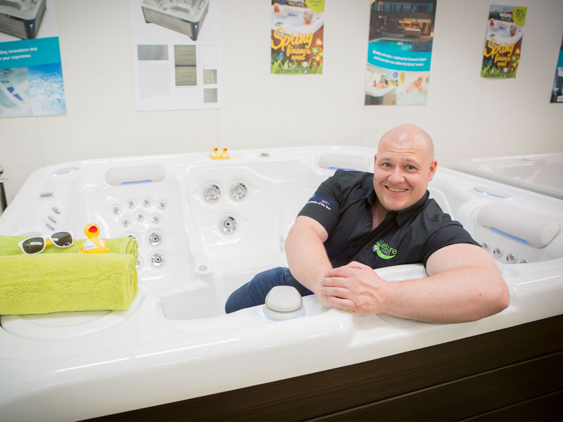 Record-breaking sales for North Wales hot tub firm urging customers to buy local